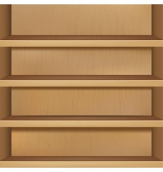 wooden empty bookshelf vector image