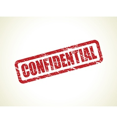 confidential stamp vector image vector image