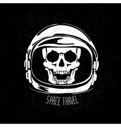 Dead astronaut helmet vector