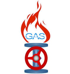 Icon gas industry 2 vector image vector image