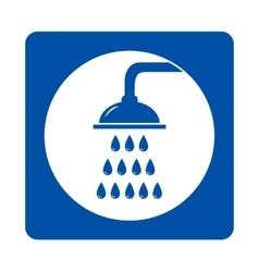 icon with shower and drops vector image vector image