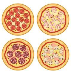 italian pizza icons vector image vector image