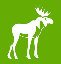 moose icon green vector image