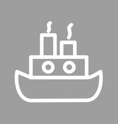 steamship vector image vector image