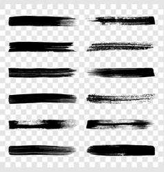 different art brush strokes vector image