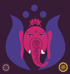 lotus Ganesh vector image