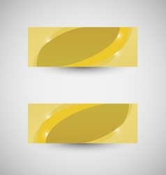 Abstract business banner yellow wave background vector