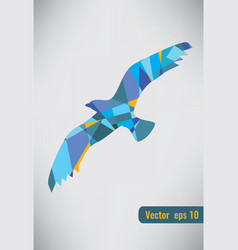 abstract colorful bird flying abstract colorful vector image vector image