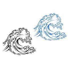 Big Sea Wave vector image vector image