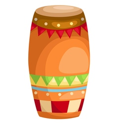 drum indian music vector image