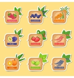 Jam Label Sticker Collection Of Templates In vector image vector image