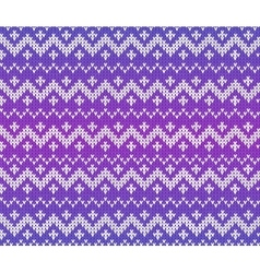 Purple knitted Scandinavian ornament seamless vector image vector image