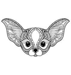 Zentangle stylized desert Fox Hand Drawn isolated vector image vector image