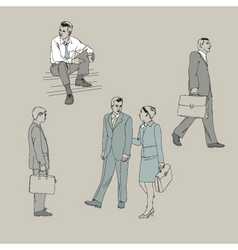 image with business people vector image vector image