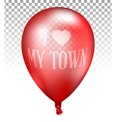 3d realistic red transparent balloon vector image