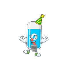 Amusing clown wall hand sanitizer cartoon vector