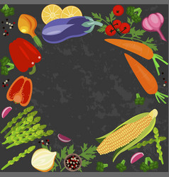 Banner of raw food vector