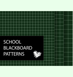 Blackboard pattern set squared backgrounds vector