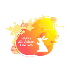 Bunny on mid autumn festival chinese holiday vector