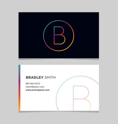 Business-card-letter-b vector