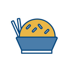 Chinese food icon vector