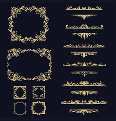 collection set ornament vector image
