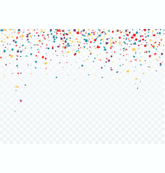 colorful falling confetti top of the pattern is vector image