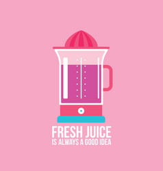 Colorful juicer on pink background kitchen vector
