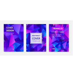 Covers templates set with graphic geometric vector