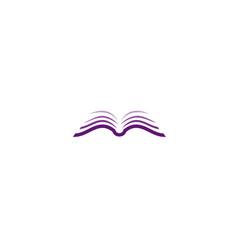 Creative open brown purple logo vector