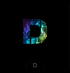 d and j disco monogram logo vector image