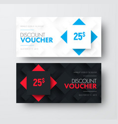 design of gift voucher with rhombuses on vector image