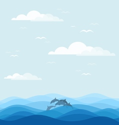 Dolphins vector