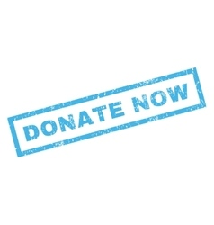 Donate Now Rubber Stamp vector