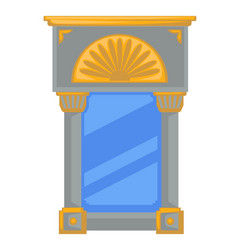 empire style mirror in frame with columns or vector image