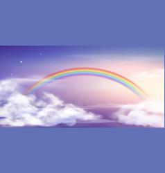 fantasy sky rainbow fairy skies rainbows colors vector image