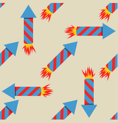Fireworks rocket seamless pattern vector