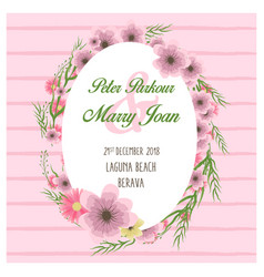 floral wedding invitation in vector image