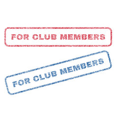 For club members textile stamps vector