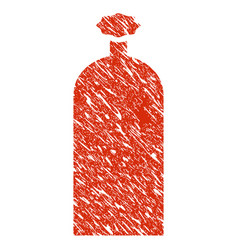 gas cylinder icon grunge watermark vector image