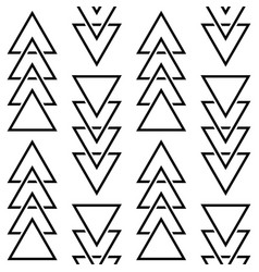geometric triangle pattern hipster design vector image