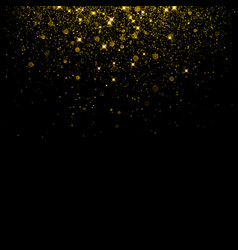 Gold glitter background with sparkle shine vector