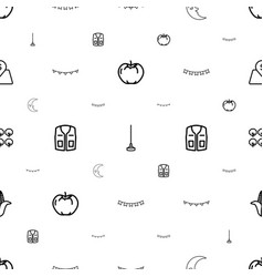 Green icons pattern seamless white background vector