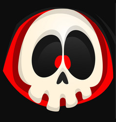 grim reaper cartoon face vector image