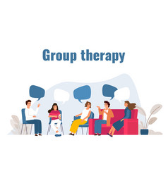 group therapy addiction treatment session vector image