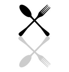 Icon kitchen cutlery vector