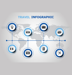 infographic design with travel icons vector image
