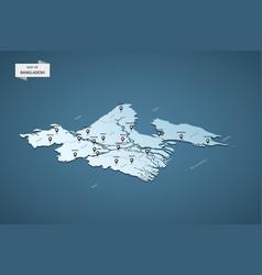 Isometric 3d bangladesh map concept vector