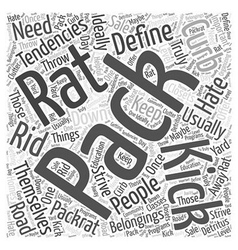 Kick your pack rat tendencies to the curb word vector