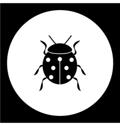 Ladybug animal symbol simple black icon eps10 vector